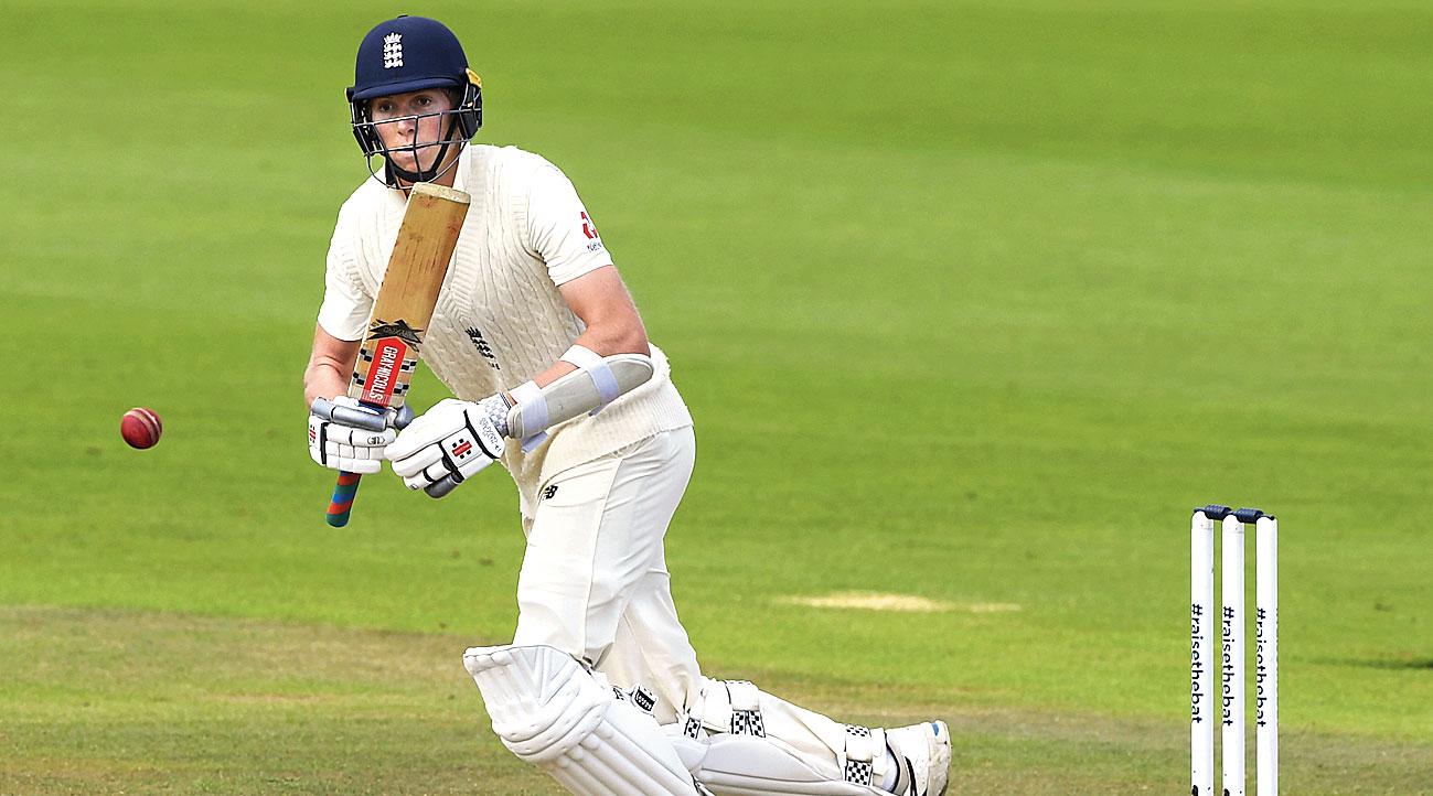 Zak Crawley during Day II of the final Test against Pakistan in Southampton on Saturday.