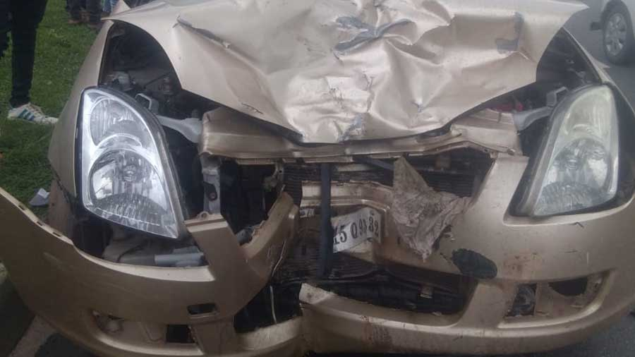 The car that killed two persons in Hazaribagh on Sunday.