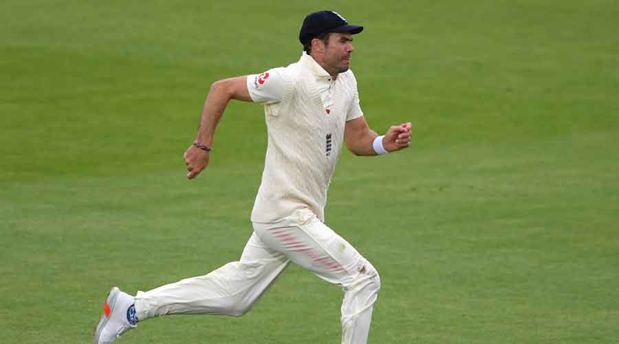 James Anderson during the third day of the third cricket Test match between England and Pakistan, at the Ageas Bowl in Southampton, on Sunday