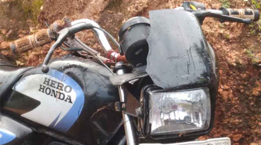 Bike of Ramjanam Singh recovered from Chalkusa in Hazaribagh on Monday.
