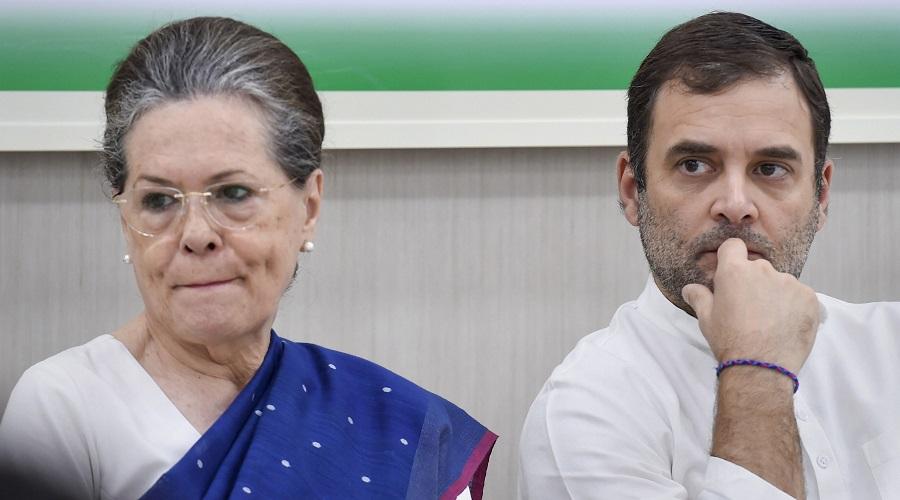 Sonia Gandhi and Rahul Gandhi.