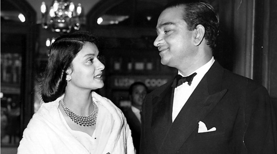 Gayatri Devi and Sawai Man Singh II of Jaipur, known to their friends as Ayesha and Jai. She was his third wife.