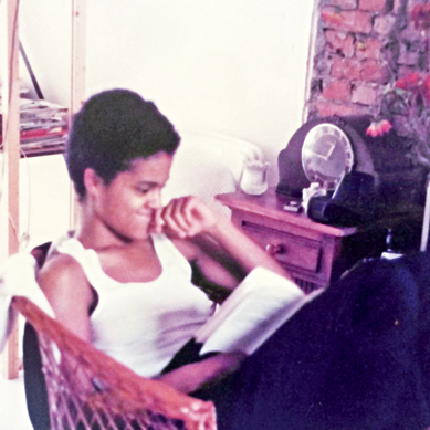 I was reading, always reading, the first step to becoming a writer. Poss 'The Colour Purple' by Alice Walker, from the stripey Women's Press book spine. Amsterdam 1982/3. #thecolourpurple #alicewalker #womenspress #bernardineevaristo
