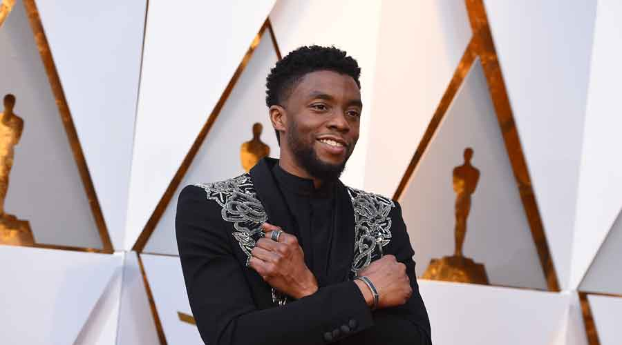Chadwick Boseman arrives at the Oscars at the Dolby Theatre in Los Angeles
