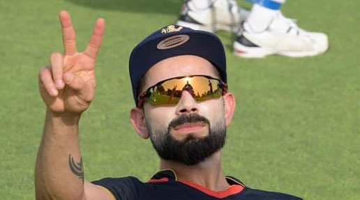 Virat Kohli during training on Saturday.