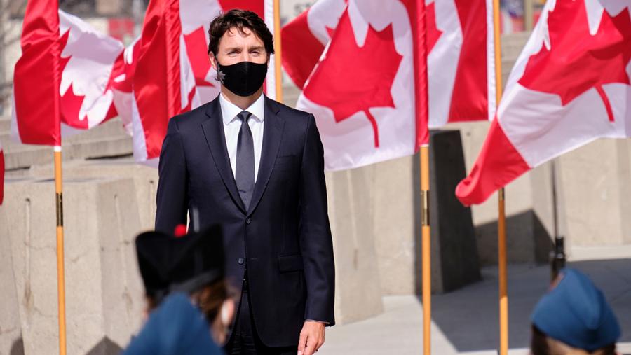 Justin Trudeau at the Canadian Senate.