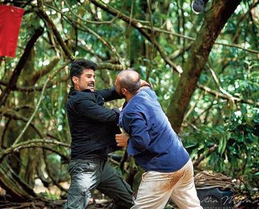 An action scene from the show Naxalbari