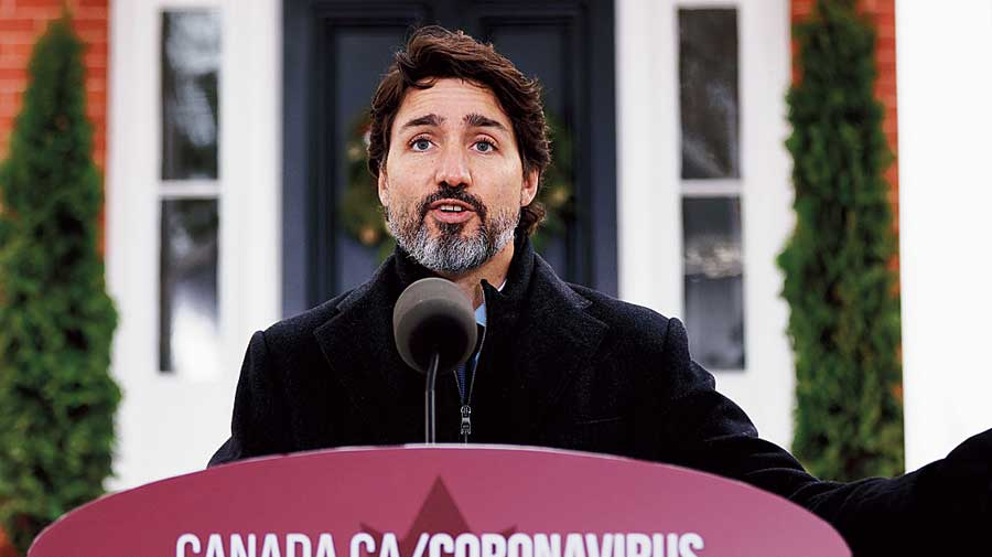 Canadian Prime Minister Justin Trudeau had recently backed the agitating farmers in India, saying his country will always be there to defend the rights of peaceful protests. He had expressed concern over the situation.