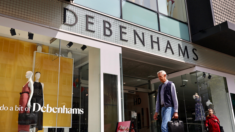 Debenhams store on the Oxford Street, London.