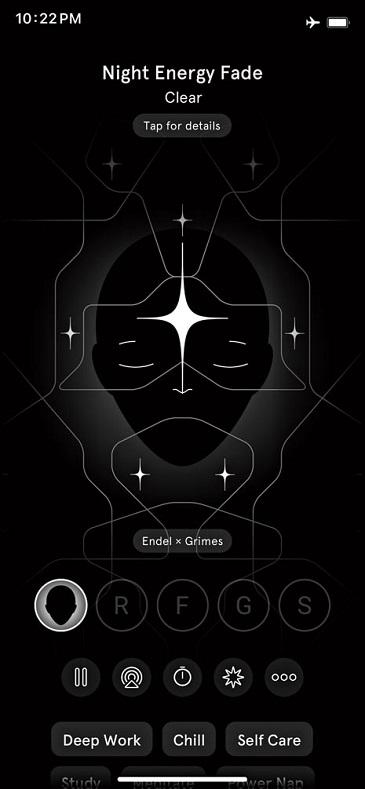 Screenshot of the Endel app