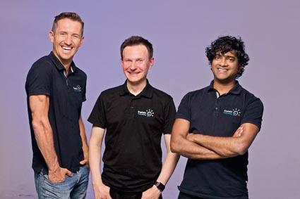 Piotr Sliwinski, Bartosz Gonczarek and Reshan Richards, the three co-founders of Explain Everything