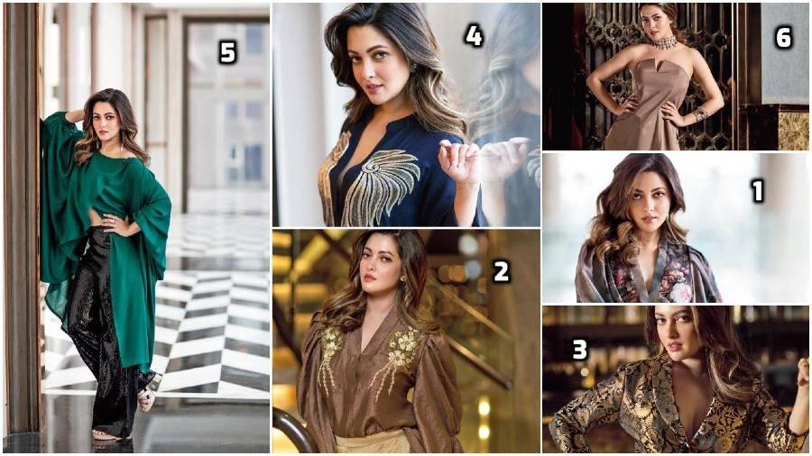 Riya Sen in the six different festive looks