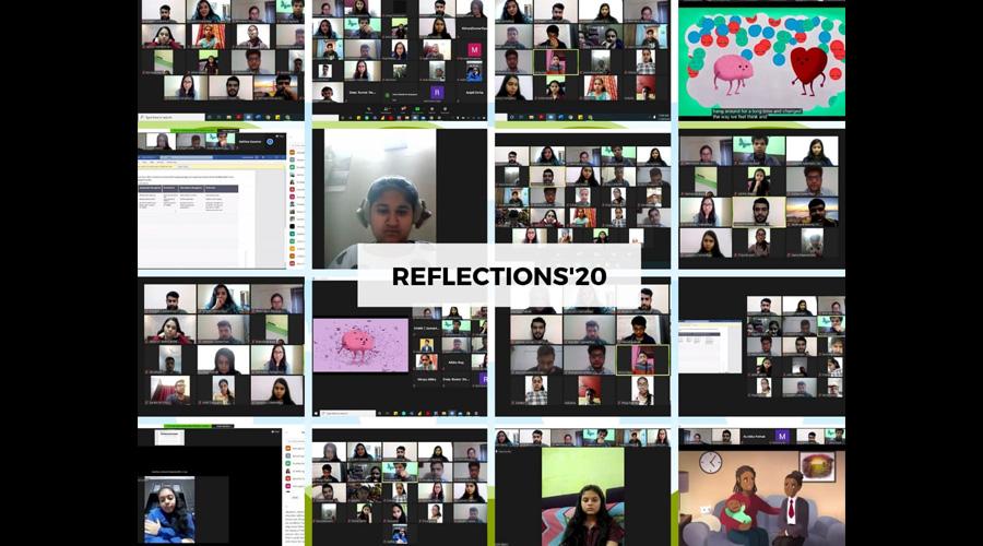 Participants attending 'Reflections – 2020' on a virtual platform on Thursday.