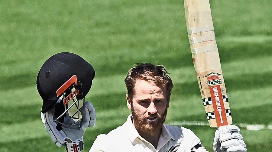 Double centurion Kane Williamson in Hamilton  on Friday.