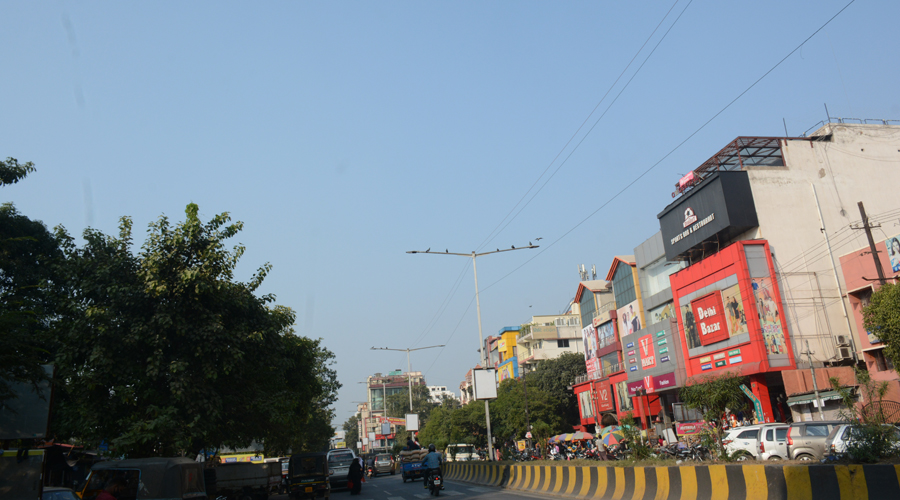 Clear skies over Jamshedpur on Saturday.