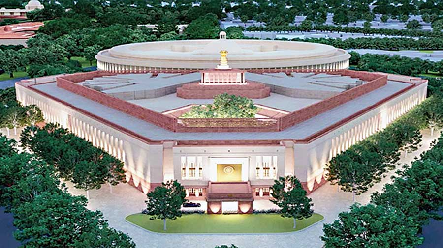 The model of the proposed Parliament building.