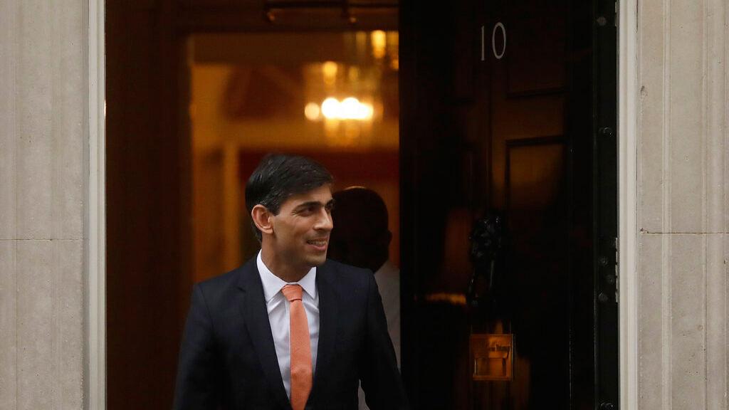 Rishi Sunak leaves 10 Downing Street.