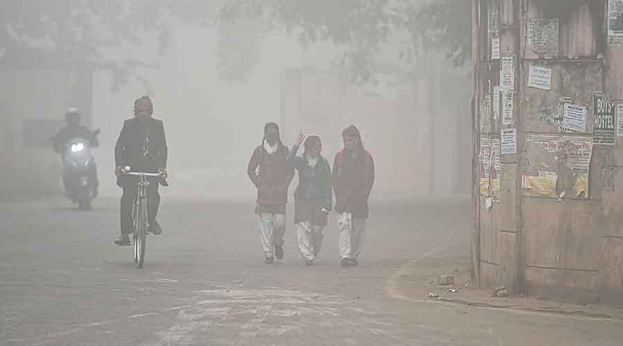 Smog in Mumbai on Friday.