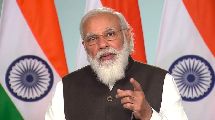 Narendra Modi speaks at the virtually-held Climate Ambition Summit, 2020, on Saturday.
