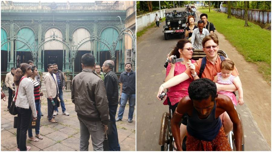 Time Travel: Walks and tours conceptualised by The Ganges Walk (left) or Calcutta Walks (right) made heritage accessible to all and upheld legacy traditions