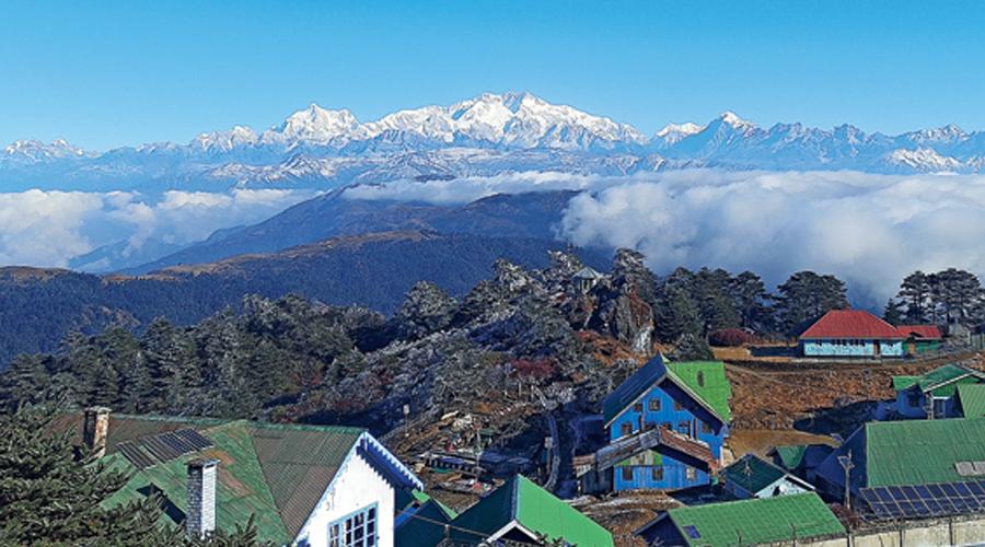 The view of Kanchenjunga from Sandakphu