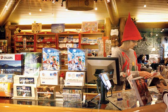 The world famous Santa Claus Main Post Office also sells post cards and memorabilia of all sorts