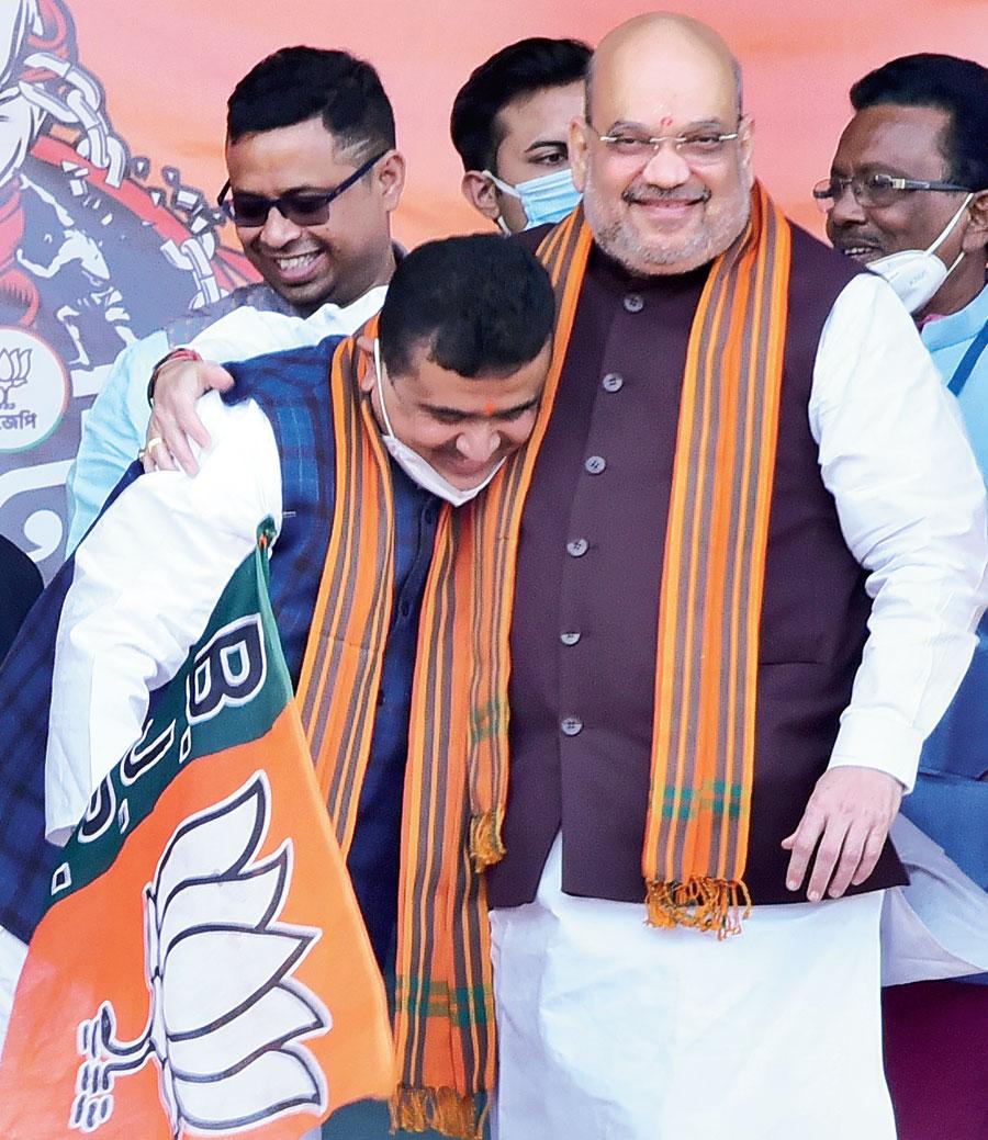 Suvendu Adhikari after joining BJP