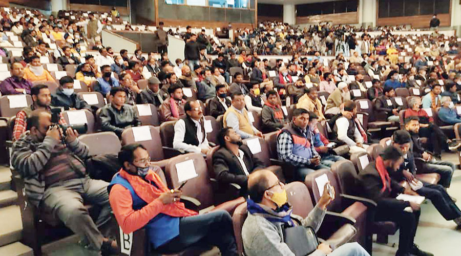Participants in the citizens' convention held in Guwahati on Sunday