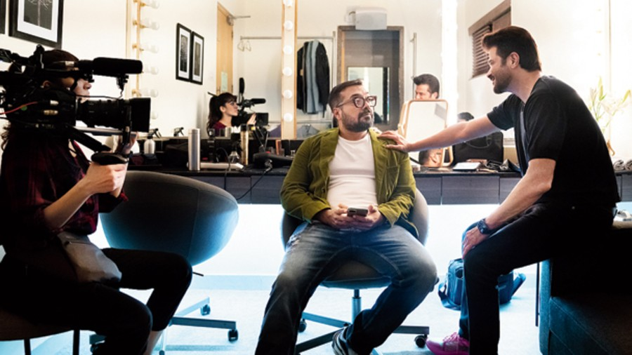 Anil Kapoor and Anurag Kashyap in AK vs AK, streaming on Netflix from December 24.