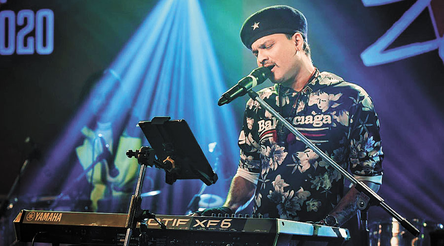 Zubeen Garg performing at the two-day North East Festival in Guwahati on Sunday night