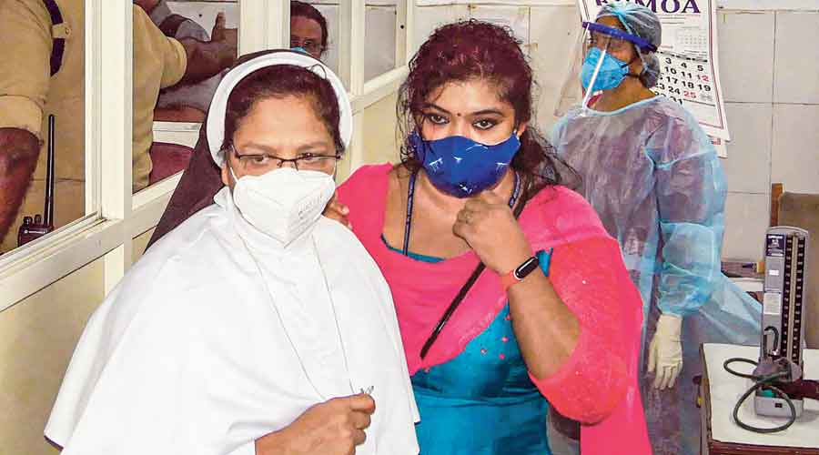 Sister Sephy (left) who were pronounced guilty by a CBI court in  the Sister Abhaya murder case, being taken to prison in Thiruvananthapuram on Tuesday