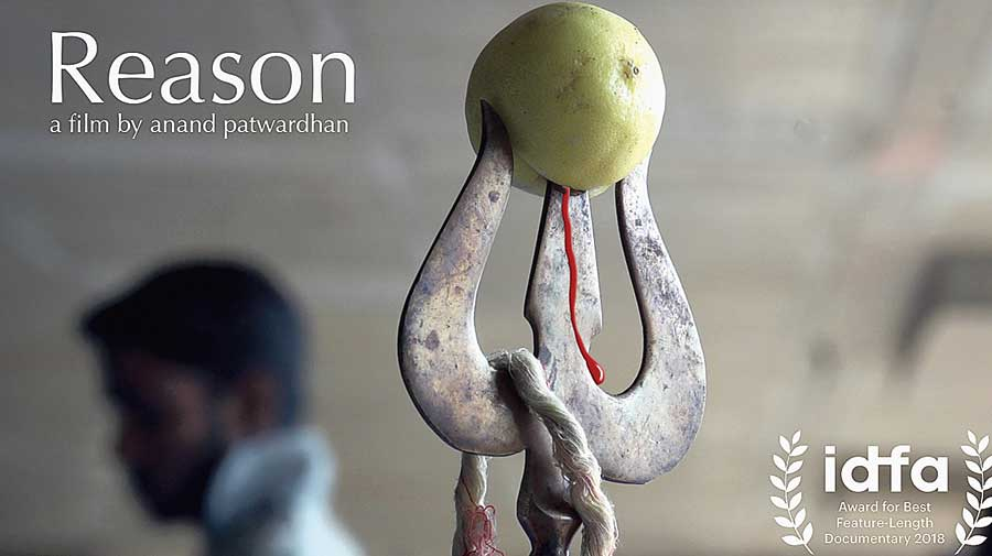 Poster of the film, Reason, directed by Anand Patwardhan