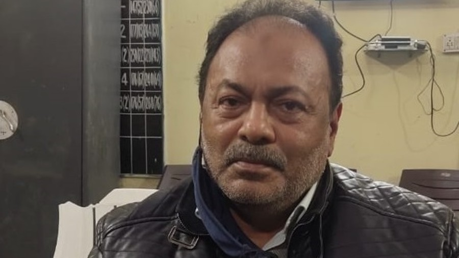 Abdul Majid Kutti  at Mango thana after his arrest on Friday night