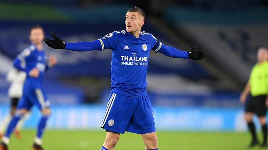 Leicester dominated the bulk of the game but failed to take their chances and missed a first half penalty while striker Jamie Vardy only came on as a second half substitute.