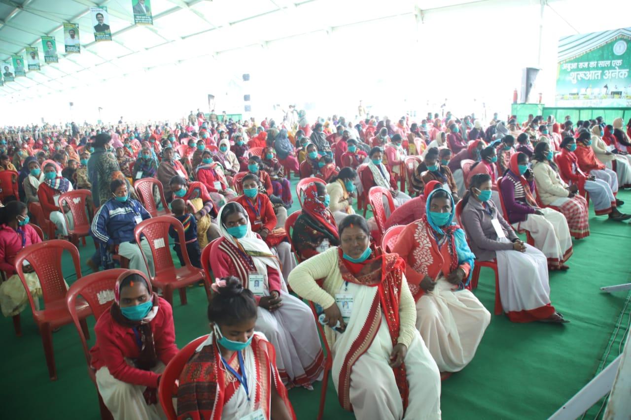 Crowd gathered at the Morabadi Satdium in Ranchi on Tuesday.
