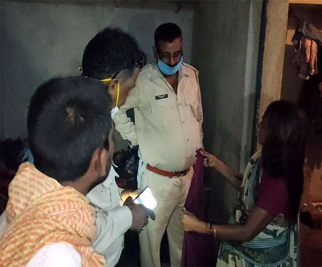 Police at the house of Koderma youth who allegedly committed suicide on Tuesday night, June 30, 2020.