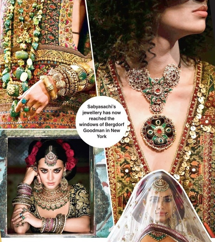 Sabyasachi's jewellery has now reached the windows of Bergdorf Goodman in New York