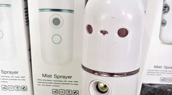 A mist sprayer that releases sanitiser into the air, available at AE Market's New Variety Stores