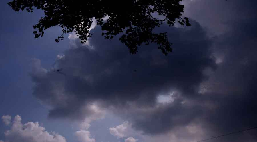 Clouds over Bistupur in Jamshedpur on Friday afternoon