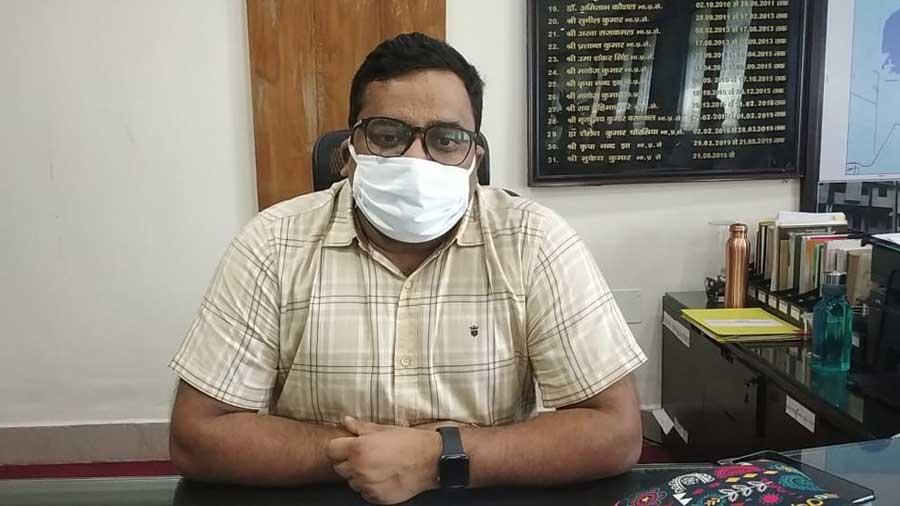 Bokaro deputy commissioner Mukesh Kumar at his office