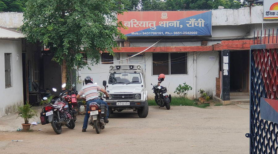 Bariatu police station in Ranchi on Saturday