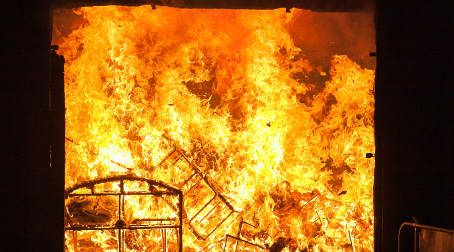 A villager claimed many of them had lost thousands of rupees in cash in the fire.