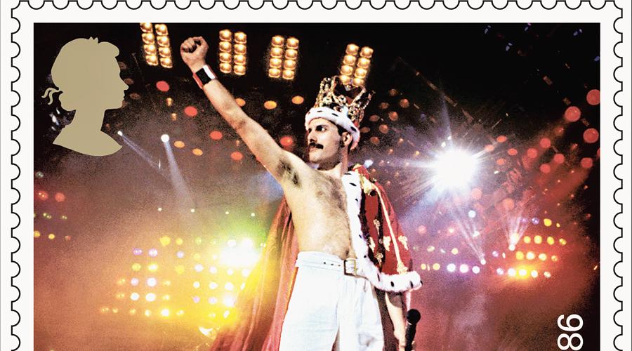The Freddie Mercury stamp
