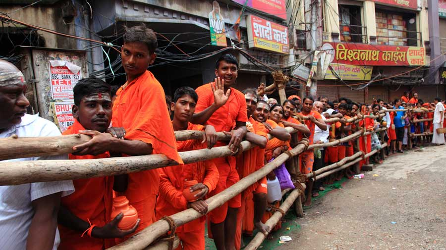 The Kanwar Yatra pilgrimage takes place across the Hindi month of Shrawan, which this year begins on July 6.