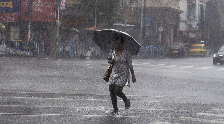 Under the low-pressure area's influence, Calcutta is set to get light to moderate rain
