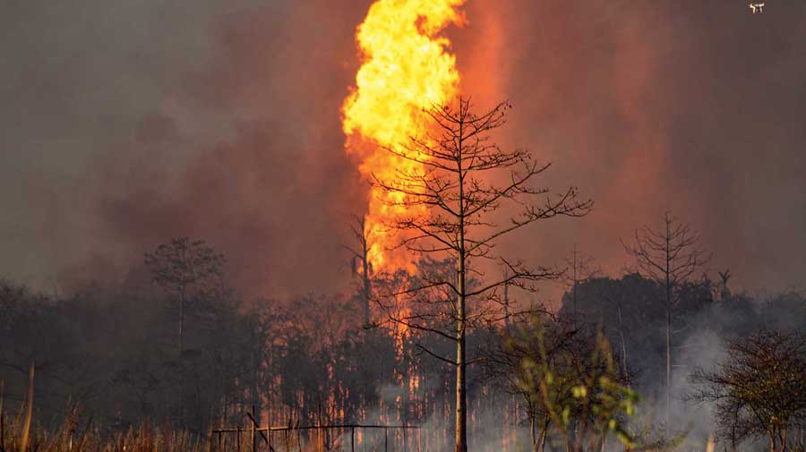 The fire at Baghjan oil field in Tinsukia.