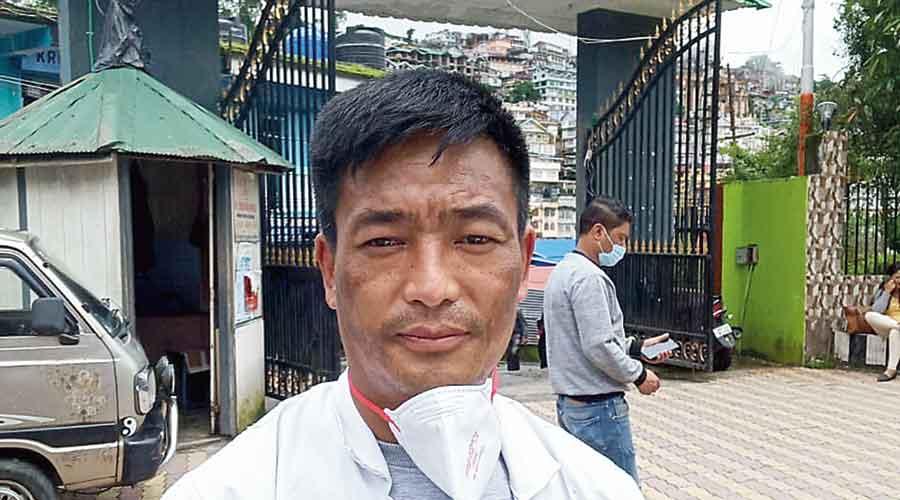 Amir Gurung near the Darjeeling  district hospital
