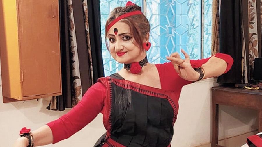 Sonali Basak, an organiser of the Gulabi Gang event