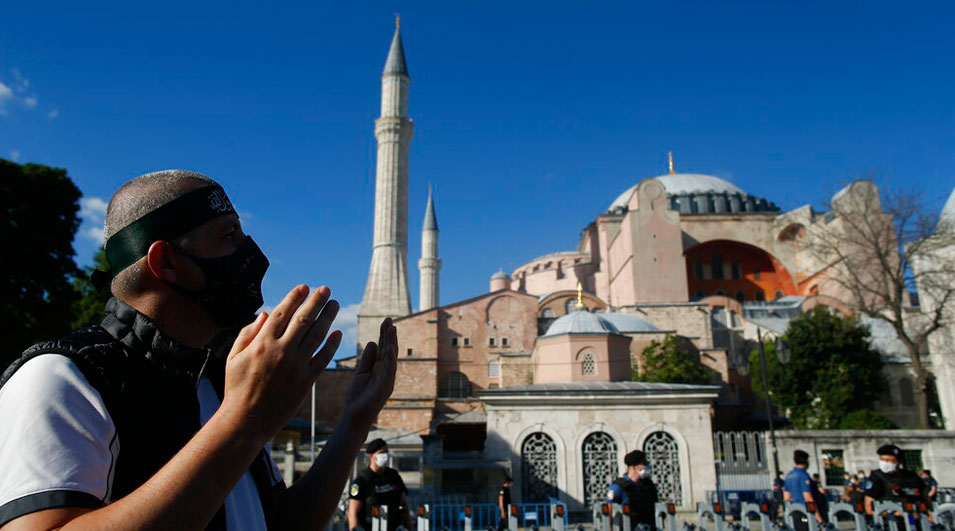 Istanbul's Hagia Sophia 'now a mosque'