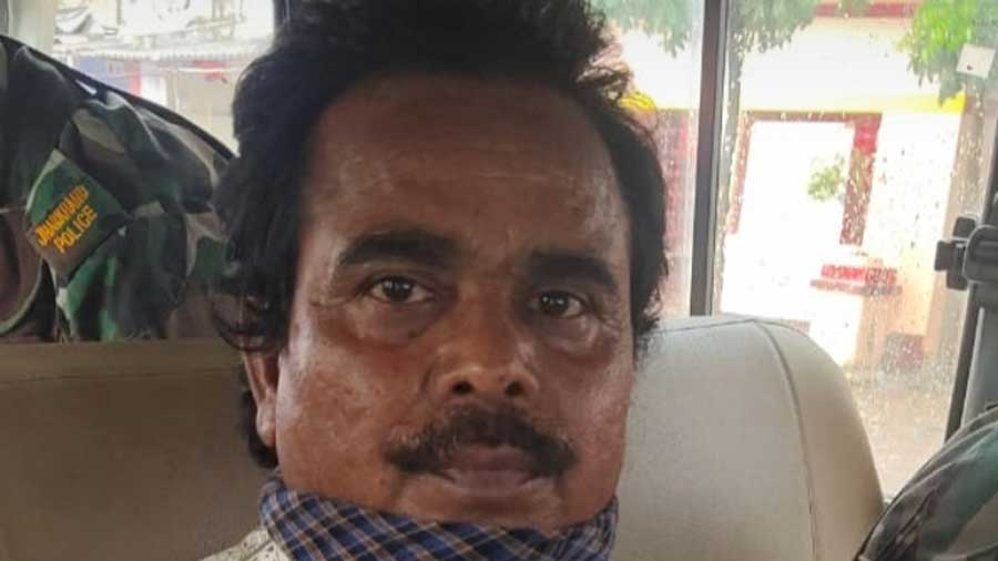 The arrested head clerk in the ACB's custody on Saturday